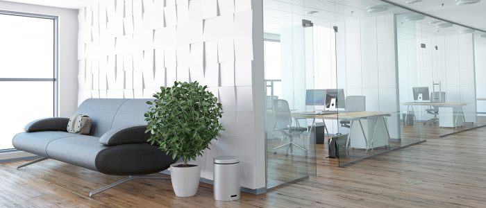 alt=bureau moderne blanc style épuré